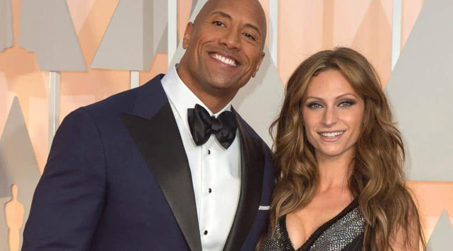 Dwayne-Johnson-with-wife-Lauren-Hashian