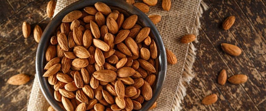 Nutritious Raw Almonds