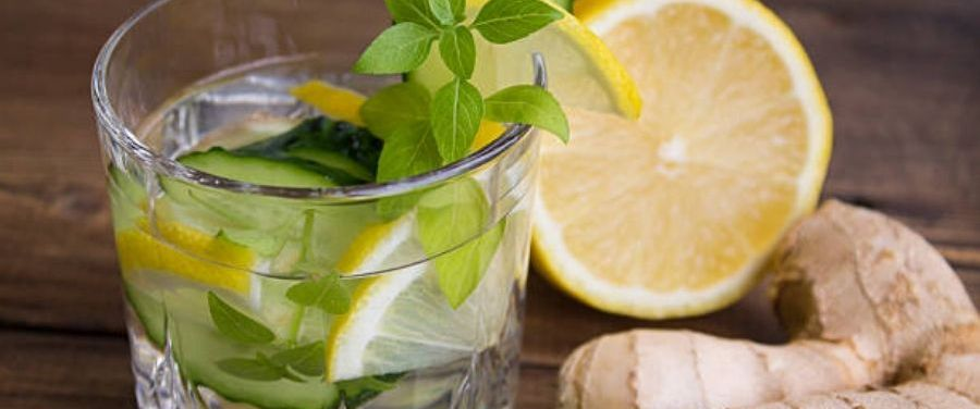 Ginger Lemon Detox Water