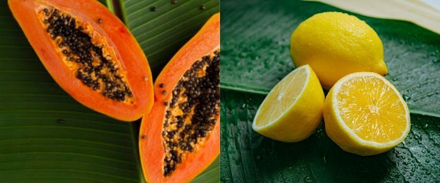 Lemon and Papaya for Skin
