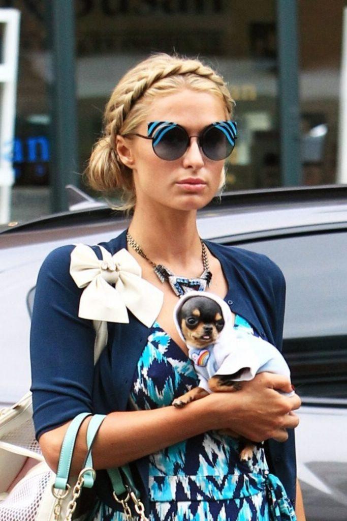 Paris Hilton With Her Dog