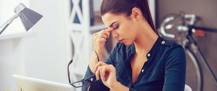 Girl having Stress