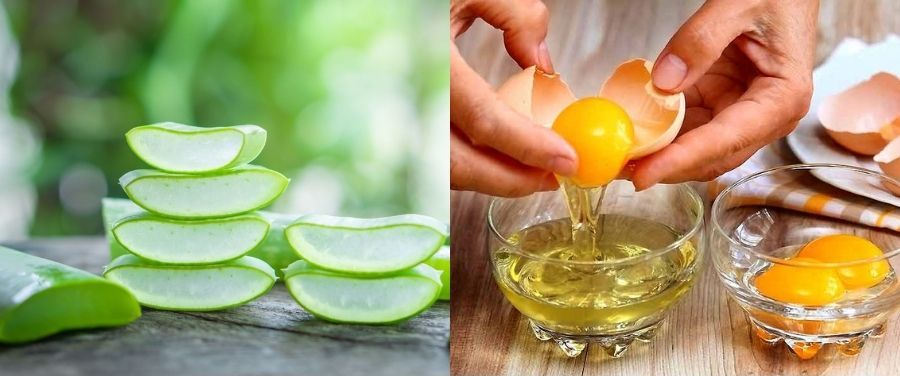 Aloe Vera and Egg Mask for Loose Skin Tightening