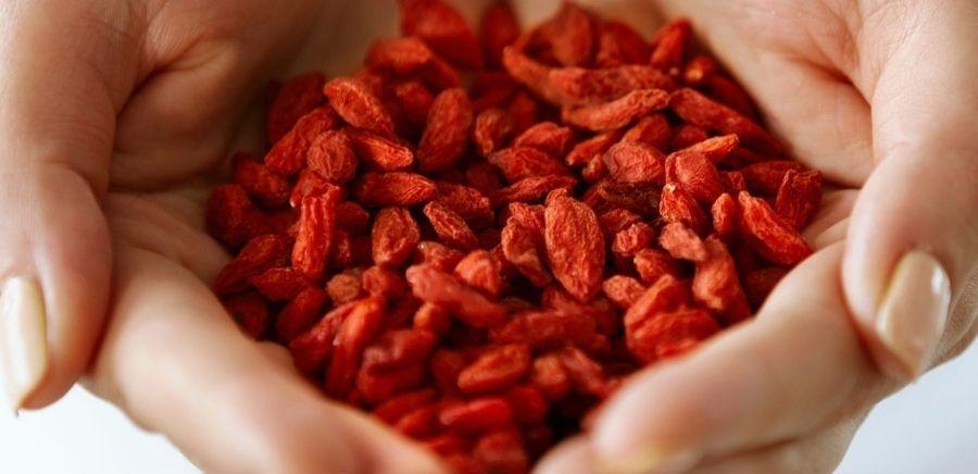 Handful of Dried Goji Berries