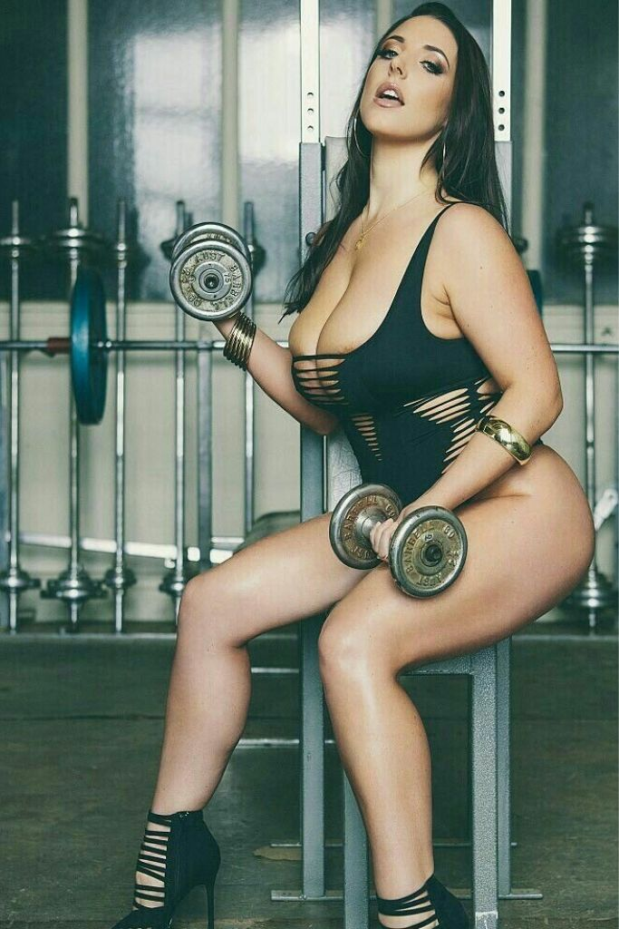 Cute Angela Doing Workout in The Gym