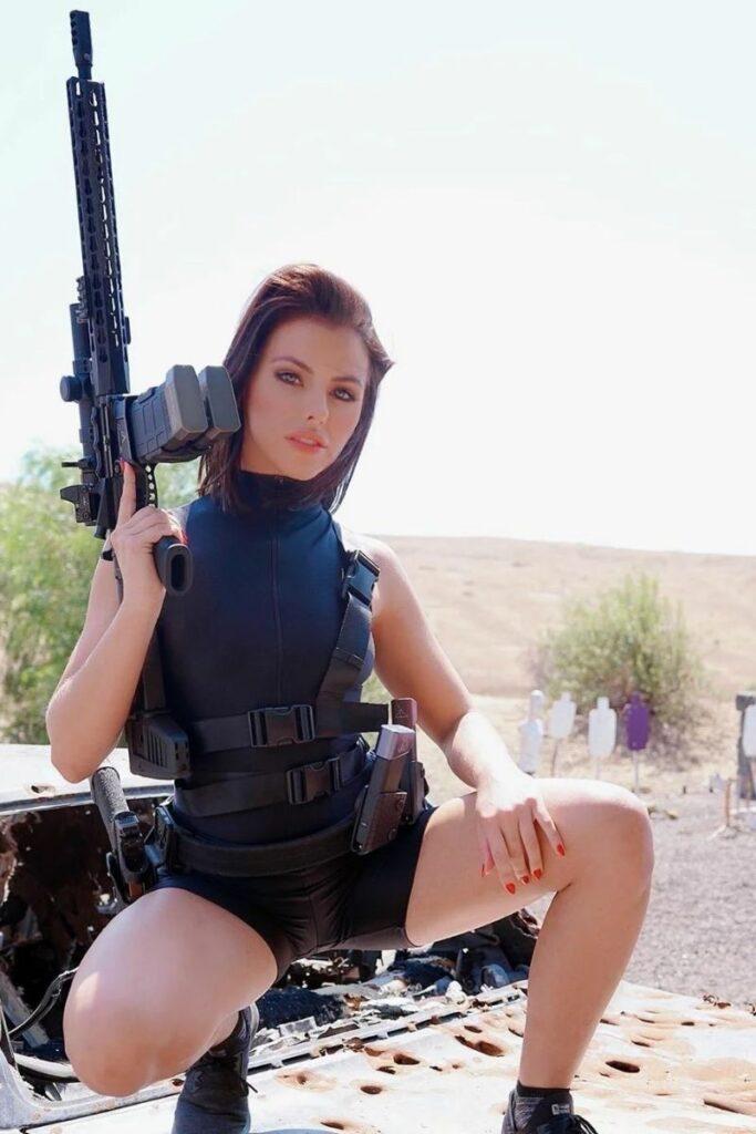 Adriana Chechik Posing in Black